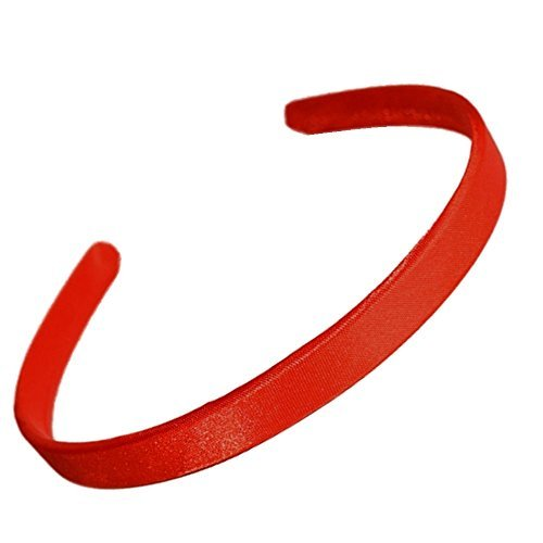 1.5cm (0.6) Wide Red Satin Covered Alice Hair Band Headband by Pritties Accessories