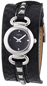 Guess Damen-Armbanduhr XS Ladies Trend Analog Quarz Leder W0160L2