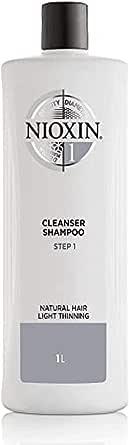 Nioxin Shampoo Sistema 1 per Capelli Naturali Leggermente Assottigliati, Formato Convenienza - 1 L