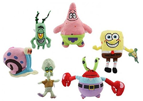 "Spongebob, Patrick, Squidward , Gary, Plankon, Mr Krabs - 6 pack - 7"" to 12"""