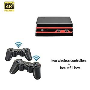 DZSF HDMI-Videospielkonsole Mit Wireless-Handle 64 Bit-Unterstützung 4K Output Retro 600 Klassik Familienvideospiele Retro Spiel-Konsole