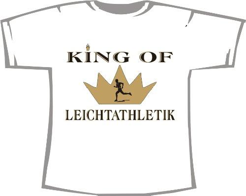 King of Leichtathletik; Kinder T-Shirt weiß, Gr. 5-6