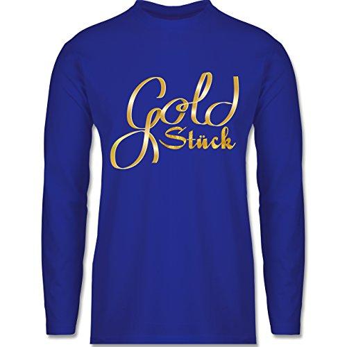 Shirtracer Statement Shirts - Goldstück - Herren Langarmshirt Royalblau