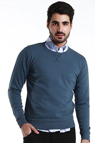 Fred Perry etichetta verde uomo classico maglione girocollo Dark Blue XX-Large