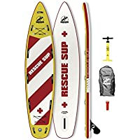 Indiana 11'6Rescue Inflatable Sup Board (incl. Backpack with Wheels, Pump, Fin & rep. Kit)