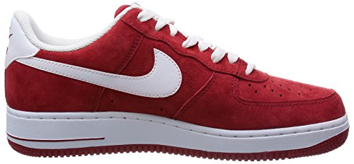 Nike Air Force 1, Baskets mode homme Rouge (Gym Red/White)