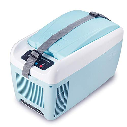 WJSWBX 8L 12V DC 220V AC Dual-Core-Kühlung Heizung Autokühlschrank Mini-Kühlschrank Kleinstkühlschrank für Privathaushalte Auto-Dual-Use-Kühlschrank Abmessungen: 44,2 * 22,6 * 27,3 cm Innenmaß
