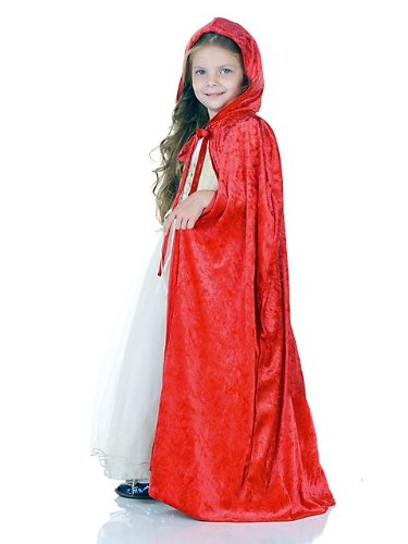 Rotkäppchen Umhang für Kinder - rot - Panne (Kostüm Panne)