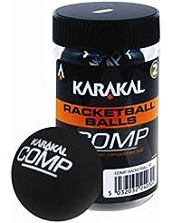 Karakal Comp Racquetball Sport Match Balles de jeu Tube de 2Racquetballs Noir