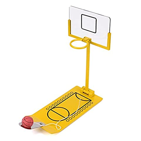 Ularma Décompression Portable Desktop Pliant Mini Table Drôle de Jeu de Basket-ball Jouet Jaune