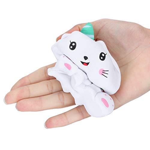 Bibao Quetschspielzeug, mit Katzenduft, langsames Ausdrücken, zum Stressabbau, Spielzeug für Kinder, Erwachsene, als Tischdekoration