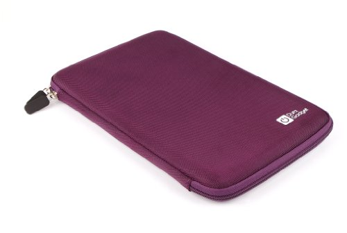 DURAGADGET Funda Rígida Morada Para Tablet Artizlee ATL-31 / Winnovo MiTab Pro - Con Bolsillo De Red En El Interior Y Cierre De Cremallera