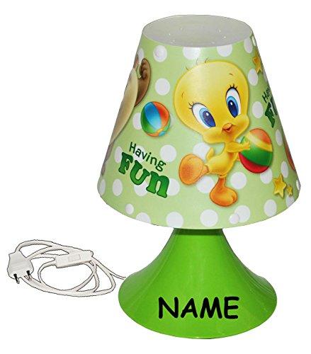 lampe Looney Tunes Baby incl. Name - 29 cm hoch - Tischleuchte für Kinder Kinderzimmer - Baby Mädchen Jungen - Tischlampe Lampe Stehlampe - Tweety B.. ()