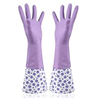 ULEEMARK Housework Cleaning Anti-soil Oil Latex Gloves Single-layer Kitchen Dishwashing Clothes Rubber Gloves