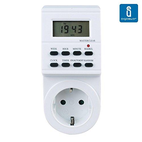 Aigostar - Temporizador eléctrico digital con funcionamiento 24 horas y semanal