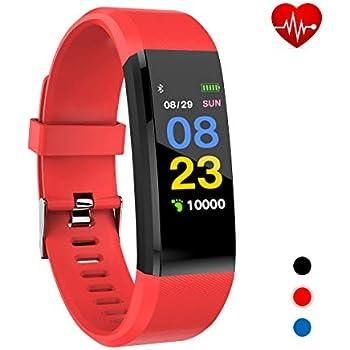 Xnuoyo Montre Connectée, Bracelet Connecté Écran Couleur Podometre Fitness Tracker dActivité avec Cardiofréquencemètre Smartwatch Sport Etanche IP67 ...