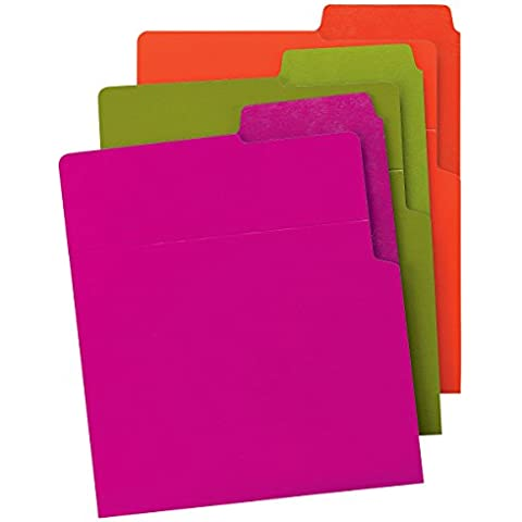 Vertical File Folder, Ltr, ASMT2, 6/PK, Assorted, Sold as 1 Package