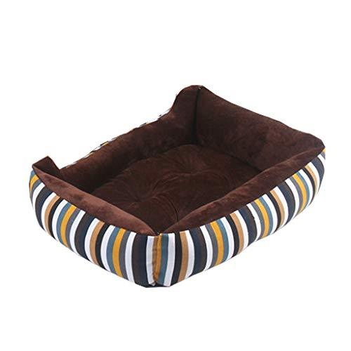 Hxyan Hundebett Hundebett Hund Sofa Leinwand Stoff PP Baumwolle Gestreifte Katze Bett Vier Jahreszeiten Universal (größe : L) -