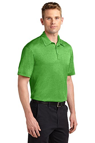 sport-tek Herren Heather Contender Polo Turf Green Heather