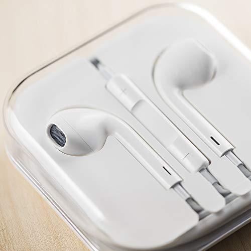 in Ear Kopfhörer/EarPods für Apple iPhone/Samsung mit Freisprechanlage und Mikrofon weiß von HiUse