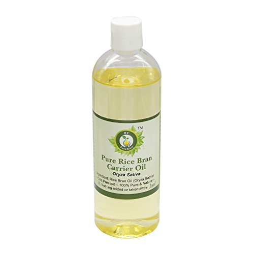 R V Essential Pure Rice Bran Carrier Oil 200ml- Oryza Sativa