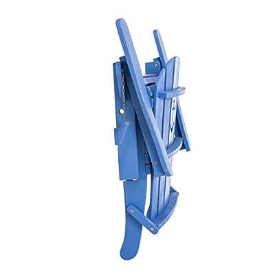 Gartenstuhl Anker - Adirondack Chair klappbar - Maritimer Look - Holz - Blau von PureDay bei Gartenmöbel von Du und Dein Garten