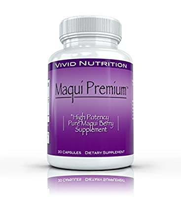 Maqui Premium - High Potency, Maqui Berry Supplement. All Natural Antioxidant Superfood Supplement - 500mg, 30 capsule