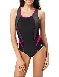 Gwinner Damen Badeanzug- Geeignet Für Freizeit Und Sport - Ideale Passform - Beständig Gegen UV Und Chlor -Made In EU #Ivana
