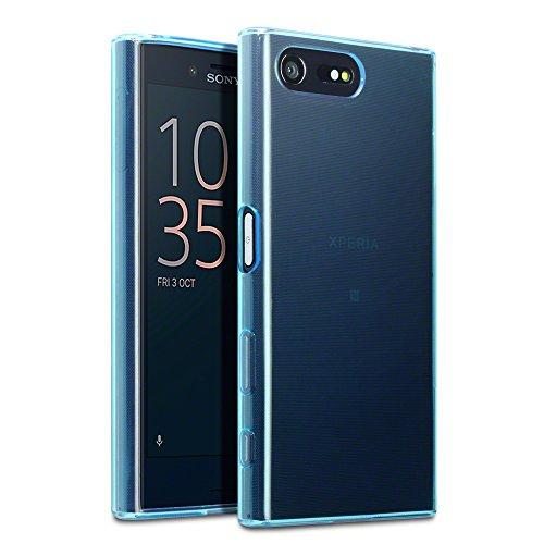 Sony Xperia X Compact Tasche, Terrapin TPU Schutzhülle Tasche Case Cover für Sony Xperia X Compact Hülle Transparent Blau