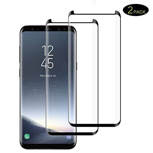 DOSMUNG Galaxy S9 Plus Panzerglas Schutzfolie, [2 stück] 3D Vollständige Abdeckung Full HD Panzerglasfolie für Galaxy S9 Plus, Anti- Kratzer, Bläschenfrei, 9H Härte, Displayschutzfolie für S9+