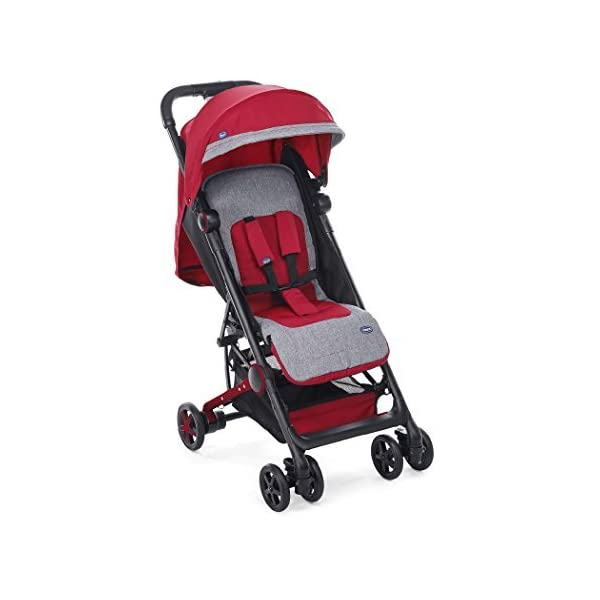 Chicco Mini.Mo Super Compact from Birth Stroller, Paprika Chicco Extremely compact when folded & lightweight Suitable from birth comfortable padded seat unit Travel bag & rain cover included 1