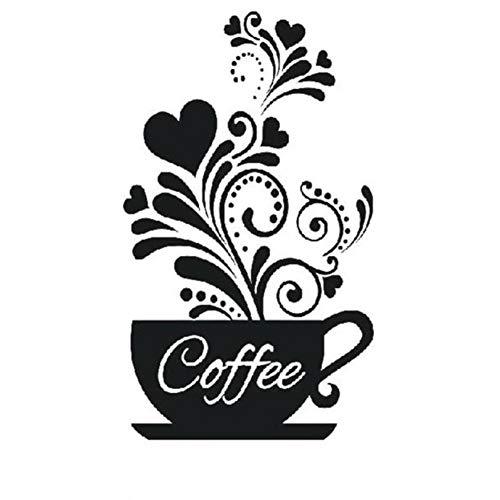 Schlafzimmer Hintergrund DIY Tasse Abnehmbare Kaffee Aufkleber Haus Wandbild Künstler Haus Aufkleber May18 50 * 30 cm (Künstler-kaffee-tasse)