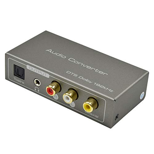 HDMI ARC Audio-Adapter, Musou 192 kHz HDMI ARC Audio Extractor HDMI ARC oder Digital Optical Toslink Koaxial zu optisch oder Analog 3,5 mm L/R Stereo Audio Splitter (Hdmi-splitter Koaxial)
