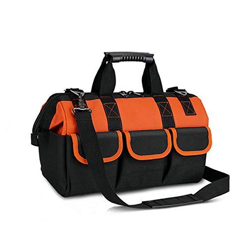 Copechilla Werkzeugtasche elektriker top professionelle mit gummiauflage,verstellbarer Schultergurt und griff aus gummi,double layer verdickung wasserdicht 600d oxford leinwand,13 taschen,30X23X17CM 13 Oxford