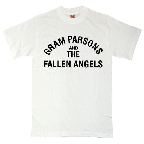 Refugeek Tees - Herren Gram Parsons & The Fallen Angels T Shirt - Medium - White (T-shirt Angel Fallen)