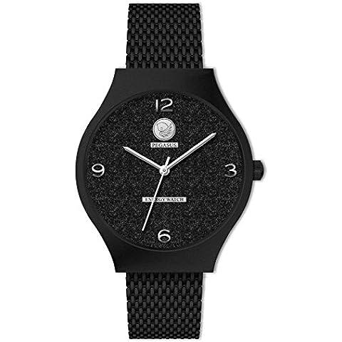 Reloj Fashion Glitter imán cuarzo negro Energetix 4you 2165 reloj de la joyería magnética, hipoalergénico en la bolsa de la joyería