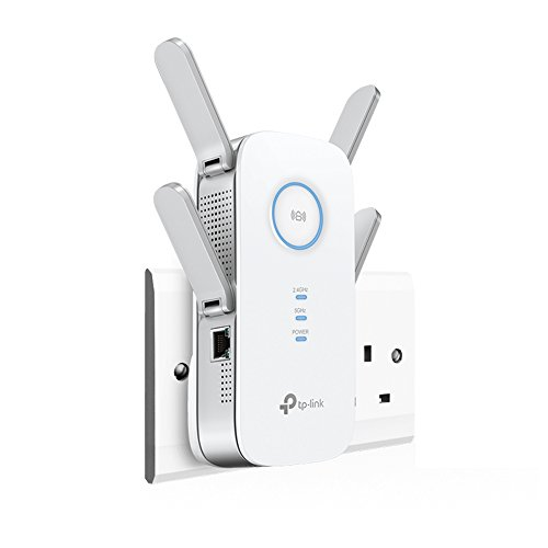 Price comparison product image TP-Link RE650 AC2600 Universal Dual Band Range Extender,  Broadband / Wi-Fi Extender,  Wi-Fi Booster / Hotspot with 1 Gigabit Port and 4 External Antennas,  Built-In Access Point Mode,  UK Plug