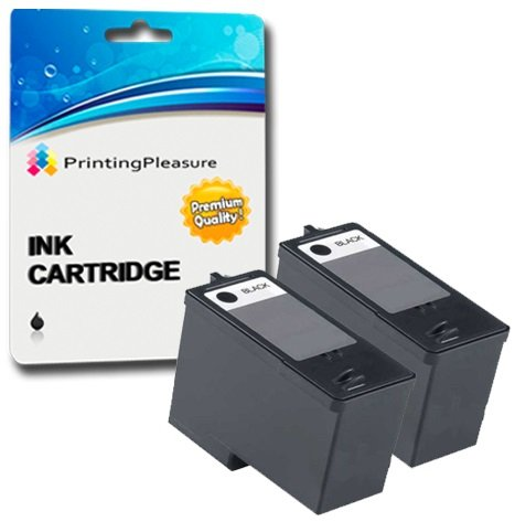 2 SCHWARZ Druckerpatronen für Dell All-In-One 926 Photo V305 V305W | kompatibel zu Dell Serie 9 MK990, MK992 (Tinte Schwarz Dell-v305)
