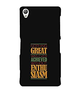 FUSON Great Achieved Enthusiasm 3D Hard Polycarbonate Designer Back Case Cover for Sony Xperia Z3 Compact :: Sony Xperia Z3 Mini