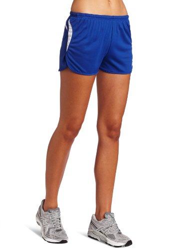 1/2 Split Shorts (ASICS Damen Interval 1/2 Split Short, Damen, Royal/Whit, Large)