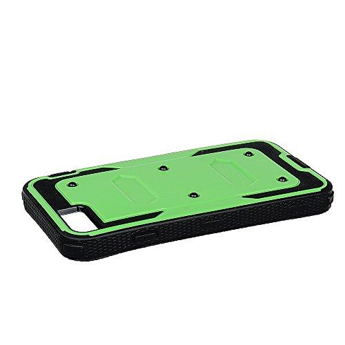 """xhorizon FM8 Eingebaut Schützender Stoßdämpfer Heavy Duty Schutz Schockreduzierung/Stoßstang Case für Apple iPhone 7 Plus [5.5""""] (Cyan) Cyan"""