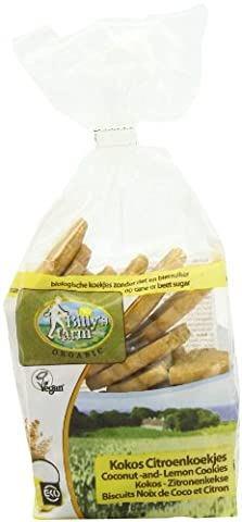 Billy's Farm Coconut and Lemon Cookies 175 g (Pack of 8)