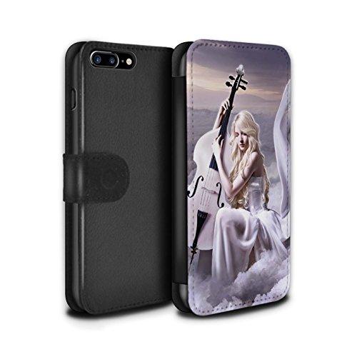 Officiel Elena Dudina Coque/Etui/Housse Cuir PU Case/Cover pour Apple iPhone 7 Plus / Chanson de Fleurs Design / Réconfort Musique Collection Violoncelle/Nuages