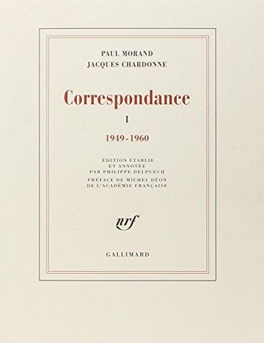 Correspondance (Tome 1-1949-1960) par Jacques Chardonne