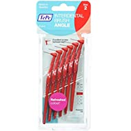 Tepe Angled 0.5mm Red Interdental Brushes - Pack of 6