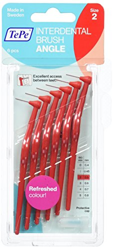 TePe Interdentalbürsten Angle rot 0,5 mm 6 Stück Packung