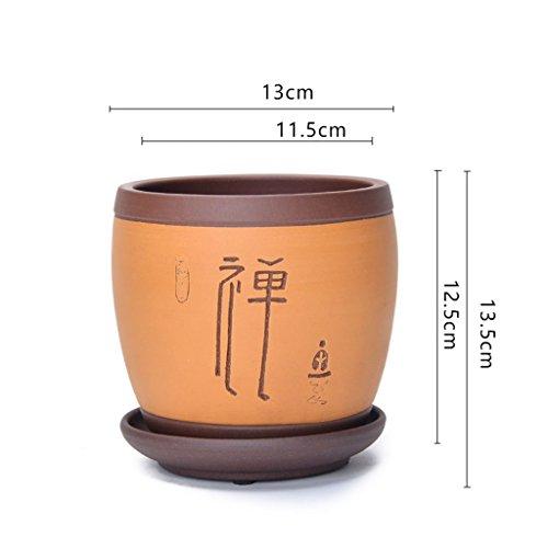 BOBE SHOP Pot de fleurs en céramique chinois vase jardin conteneur intérieur pour plantes succulentes orchidée bureau balcon décoration pot de fleurs ( Couleur : #2 )