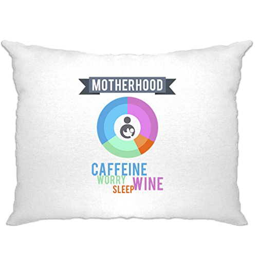 Mutterschaft Zutaten gedruckt Slogan Zitat Design Premium Kissenbezuge (Tees Neuheit Mutterschaft)
