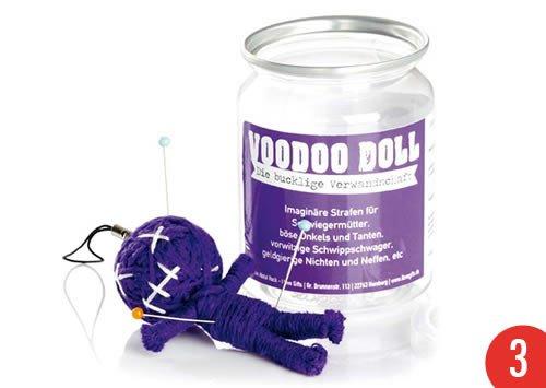 3er-Pack: Voodoo Doll in Dose +++ LUSTIG von modern times +++ DIE BUCKLIGE VERWANDTSCHAFT - VOODOO-DOLL +++ I LOVE GIFTS