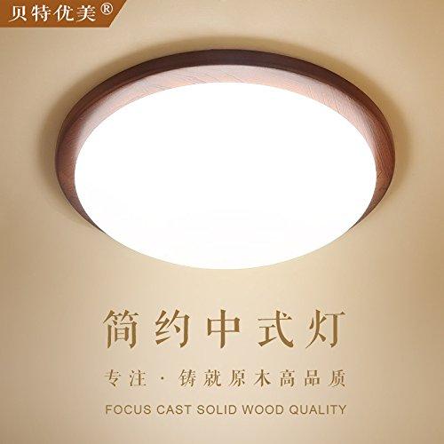 GQLB Lampada da soffitto di legno di legno solido LED luce a soffitto 260*100MM, luce bianca